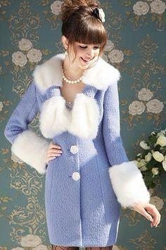 Fashion V Neck Long Sleeve Single Breasted Long Coat
