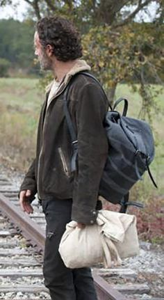Andrew Lincoln Walking Dead Season, Andrew Lincoln, Handsome, Leather Jacket, Studded Leather Jacket, Leather Jackets
