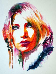 Aquarell-Portrait-Mensch-Frau-Gesicht-Ausdruck-Farben-Haare-Blick-37149_79.jpg (749×1000)