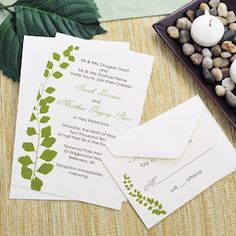 Green Botanical Invitation Kit from Wedding Favors Unlimited