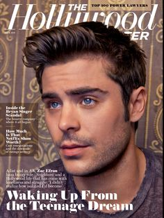 Zac in The Hollywood Reporter ~ May 9, 2014 issue ~ digital edition scan