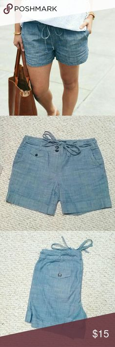 Talbots chambray shorts Stylish, simple, and preppy. The first photo is for styling inspiration! Cotton Talbots Shorts