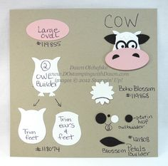 By Dawn; #punchart cow made out the owl punch from SU visit me at http://stampingwithbibiana.blogspot.com/
