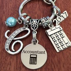 ACCOUNTANT Gift Accountant Keychain Gifts For Firm CPA Birthday Jewelry