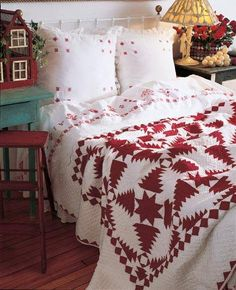 Red Christmas quilt