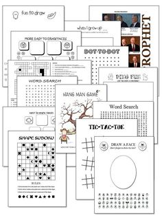 FREE LDS General Conference & Sabbath Day Activity Pages by JewellsEmbroidery