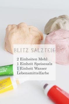 Salzteig selbst machen - 3 Zutaten, 3 Minuten via alovelyjourney.com