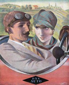 Max Schwarzer, Jugend magazine cover art, 1927.
