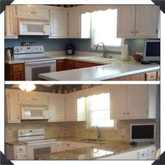 Chalk paint on pinterest 45 pins on annie sloan french linens and - Annie sloan kitchen cabinets before and after ...