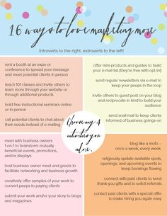16 ways to love marketing more // introverted and extroverted options!