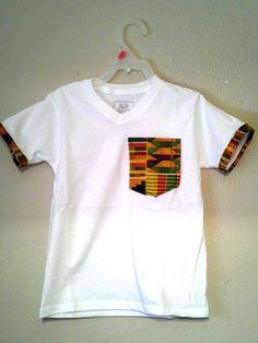 Africa kente t shirt design with kente by MyBigLilGirlDresses, $15.00