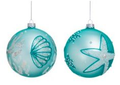 STARFISH ORNAMENTS! If you are looking for starfish Christmas ornaments, we have a ton of options here. Find all of the best nautical and beach themed Christmas ornaments at Beachfront Decor.
