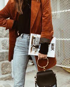 Fall colors : Mango jacket + Levi's denim + Chloé bag <3 By Emilie T.