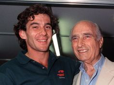 Ayrton with Fangio