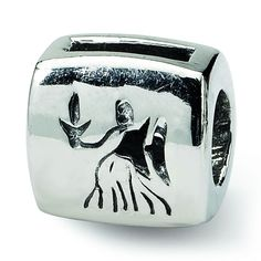 Sterling Silver Reflections Virgo Zodiac Antiqued Bead
