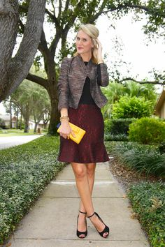 Jennifer Rand of Belle de Couture in head-to-toe Ann Taylor