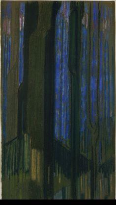 František Kupka / Study in Verticals (The Cathedral) / 1912 / MoMa