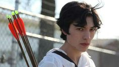 Spoiler alert!  In this fucked up movie, Ezra plays a sociopath who for some odd reason loathes his mom. He goes on a killing spree at the end of the film..shooting everyone with those arrows. He even killed his dad and little sister. He was like 20 on here.