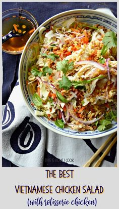 Vietnamese Chicken Salad (Goi Ga) - This Is How I Cook salad salad salad recipes grillen rezepte zum grillen Vietnamese Chicken Salad, Vietnamese Food, Korean Food, Goi Ga, Asian Recipes, Ethnic Recipes, Cabbage Salad, Greens Recipe, How To Make Salad