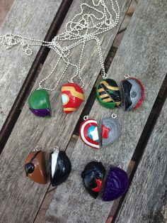 Marvel Avengers Friendship Necklaces on Etsy, SOOOO CUUUUUTE
