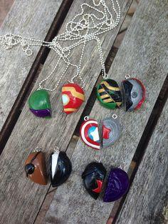 Marvel Avengers Friendship Necklaces on Etsy, $17.47 DAWWWWWWW. SOOOO CUUUUUTE