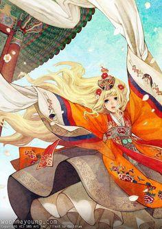 Flowy hanbok