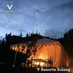 V RESORTS SOLANG Ten km from Manali, en route to Rohtang Pass, is V Resorts Solang. Surrounded by apple orchards, with a 360 degree view of the snow-covered Himalayan range, the best aspect of this Solang valley resort is its location. It is in the center of adventure sports. Stay in plush tents, and get a firsthand feel of living in the mountains with snow peaks in direct vision.   https://www.vresorts.in/resorts/v-resorts-solang-adventure-camp