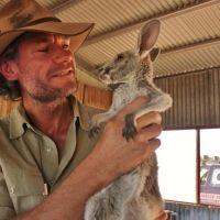Brolga (Kangaroo Dundee) with joey Daniel