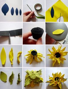 Best 12 Flowers from tameran: master class for beginners with step by step photos Giant Paper Flowers, Paper Roses, Felt Flowers, Diy Flowers, Flower Decorations, Diy Arts And Crafts, Felt Crafts, Poppy Flower Bouquet, Fabric Flower Pins