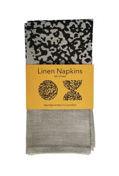 Pair of Linen Napkins Screenprinting, Linen Napkins, Foodies, Mid Century, Pairs, Ink, Sculpture, Gifts, Inspiration