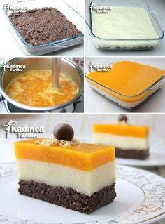 Three Color Semolina Dessert Recipe, How To – Womanly Tar – Kuchen Ideen Fondant Tips, Fondant Cakes, Breakfast Recipes, Dessert Recipes, Gula, Energy Snacks, Food Platters, Turkish Recipes, Fancy Desserts