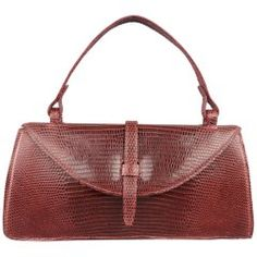Judith Leiber Deep Red Lizard Top Handle Handbag - Shw 0nJOZ