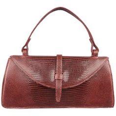 Judith Leiber Deep Red Lizard Top Handle Handbag - Shw 0nJOZ