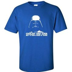 Darth Vader Coolest Dad Funny Fathers Day Star Wars MENS TSHIRT Royal XL *** Check this awesome product by going to the link at the image.