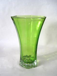 Vintage Apple Green color Hoosier Vase by Hallingtons on Etsy