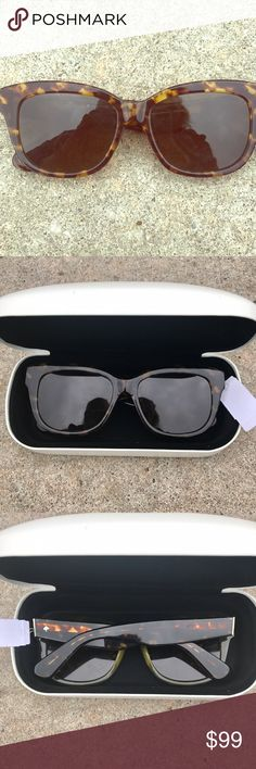 Kate ♠️ Spade sunglasses Brown tortoise shell frames, super comfortable, gold Spade on side, brand new with tags in hard case (case not Ks) reg $155 make me an offer kate spade Accessories Sunglasses