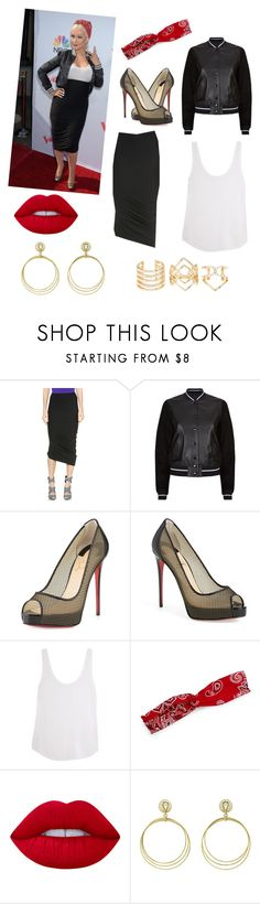 """""""Christina Aguilera: The voice outfit"""" by alexandrafeibel ❤ liked on Polyvore featuring Zero + Maria Cornejo, rag & bone, Christian Louboutin, Frame Denim, Design Lab, Lime Crime, Buccellati, Charlotte Russe, thevoice and YahooView"""