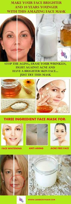 3 Ingredient Face Mask For Brighter, Acne Free Face Without Any Signs Of Aging! 10 Years Younger, Brighter and Acne Free Face With This DIY Rice Mask Girl With Acne, Rice Mask, Face Home, Bright Skin, Acne Free, Skin Food, Health And Beauty Tips, Face Skin, Whitening