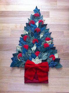 Árvore de Natal em tecido (patchwork)