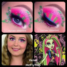 Venus McFlytrap Monster High Makeup