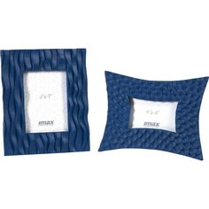 Display cherished family photos and artful sketches with this charming picture frame set, showcasing eye-catching geometric motifs in blue. ...