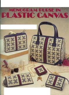 Plastic Canvas Monogram Purse Pattern Purse by treazureddesignz Tote Pattern, Purse Patterns, Plastic Canvas Crafts, Plastic Canvas Patterns, Canvas Purse, Canvas Tote Bags, Monogrammed Purses, Canvas Designs, Diy Canvas