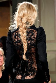 Braided Hair and Lace Back