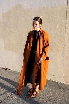 The Lounge Coat is relaxed overcoat with deep pockets, cut generously for…
