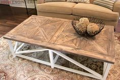 Build your very own Restoration Hardware inspired Parquet X-Brace Coffee Table with these free DIY plans complete with step-by-step photos.