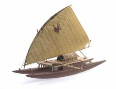 Object: Model Tongiaki (sailing canoe) | Collections Online - Museum of New Zealand Te Papa Tongarewa