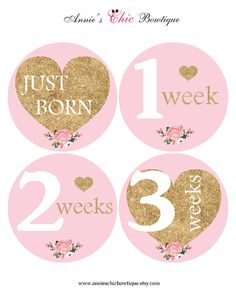Our HIGH QUALITY stickers are the BEST way to capture the first two years of your childs life. Use our stickers for a memorable photo session or add them to your scrapbook. They also make a perfect gift for a mom to be. ** Please note that this is NOT real glitter, it is a print