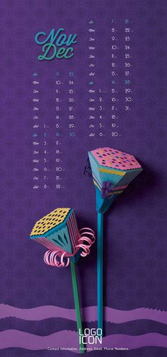 LOTUS calendar project on Behance