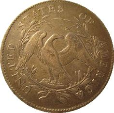 """1795 """"Flowing Hair"""" United States dollar coin, reverse"""