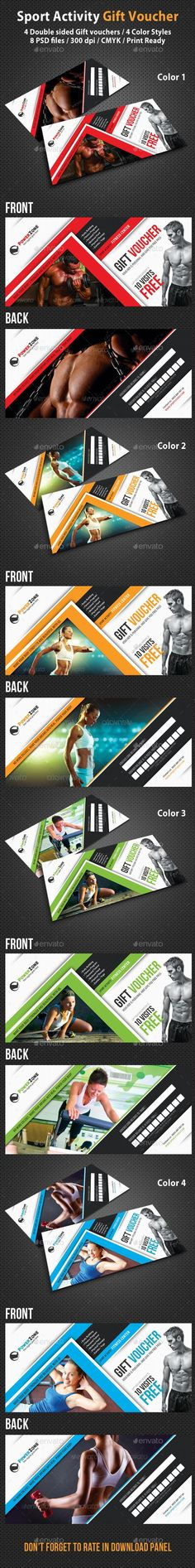 Sport Activity Gift Voucher 02 #template #cards #print #invites